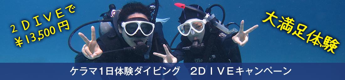 【期間限定!2018年10月末まで!】ケラマ1日体験ダイビングキャンペーン